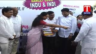 MP Kavitha and Santhosh Kumar Launches TNews Apex Golden Education Fair 2018 - Hyderabad  live - netivaarthalu.com