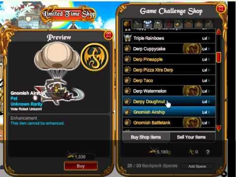 AQWorlds - Game Challenge Shop
