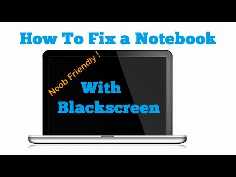 How to Fix Black Screen Laptop  - white screen - No boot [HD] [DE] [EN]
