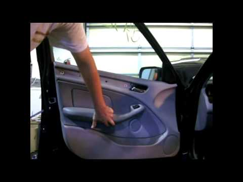 DIY BMW E46 3 SERIES DOOR PANEL REMOVAL SEDAN