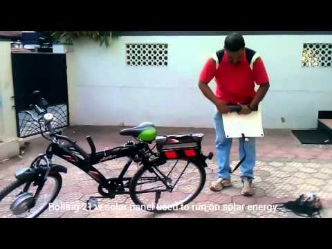 Self made Electric Cycle runs on Solar