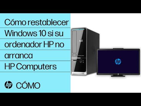 Cómo restablecer Windows 10 si su ordenador HP no arranca | HP Computers | HP