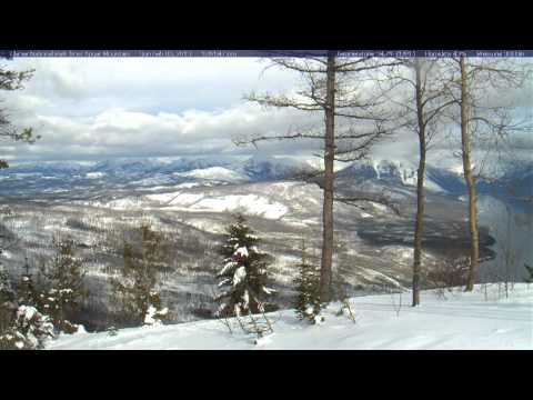 Timelapse from webcam at Glacier National Park, view from Apgar Mountain, 2013-02-04
