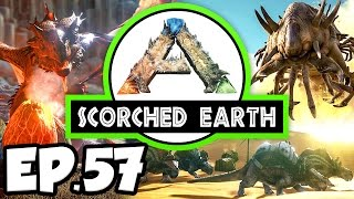 ARK: Scorched Earth Ep.57 - TRYING TO ESCAPE THE MEGALOSAURUS CAVE!!! (Modded Dinosaurs Gameplay)