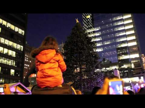 Christmas 2011 in Chicago - Lighting the Tree at Daley Plaza