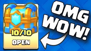 BIGGEST CLAN CROWN CHEST OPENING | Clash Royale LEVEL 10 CLAN CROWN CHEST OPENING 3250 / 550 CROWNS