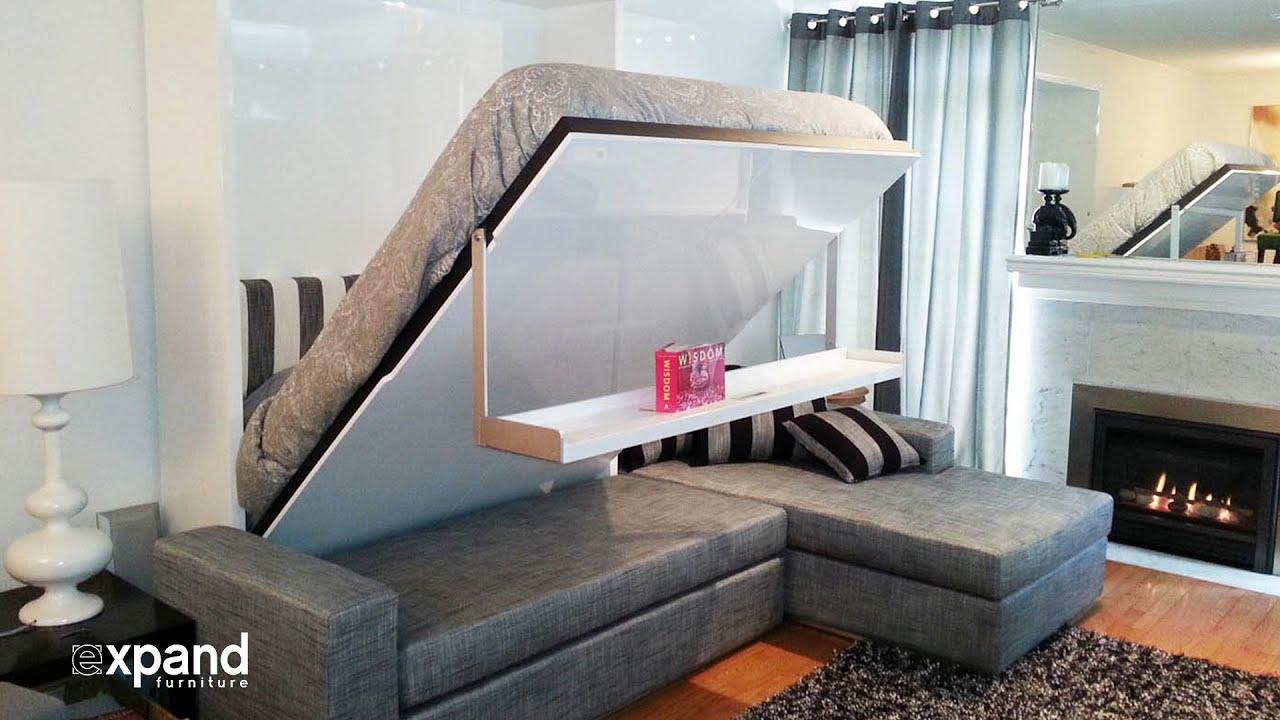 Дизайн гостиной с кроватью и диваном