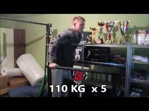 Two days basics (pl. pushups, 120-140kg dips, etc..)
