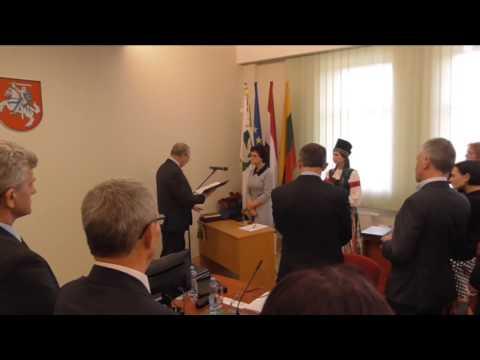 (meslaisvi.lt)Pagėgių tarybos narių priesaika 2015