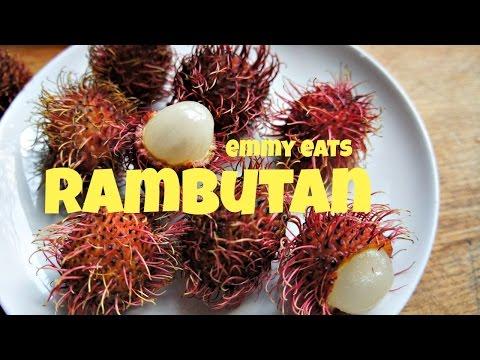 Tasting Rambutan - more tropical fruits