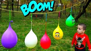 Wet Balloons Finger Song - Five funny Water Balloon Finger Song Collection for Kids