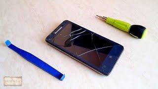 Разборка смартфона Lenovo P770 и замена сенсорного экрана, стекла или тачскрина (touch screen)