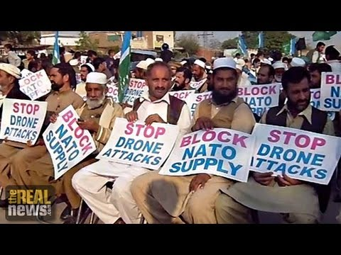 Pakistani Drone Strike Opponents Block NATO Shipments to Afghanistan