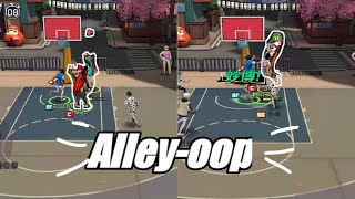 Hot Street basketball (Freestyle 2 mobile) Gameplay #5 Alley-oop and Rolling Catch