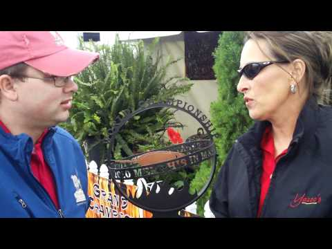 Melissa Cookston of Yazoo s Delta Q talks with Pork Barrel BBQ at Memphis in May 2011