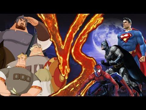 Рэп-дискуссия. Spiderman+Batman+Superman vs Три Богатыря