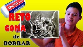 DIBUJANDO SOLO CON GOMA DE BORRAR !!RETO/The Eraser Only Art Challenge