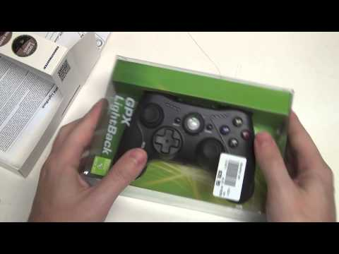 Thrustmaster GPX LightBack Xbox 360 and PC Gamepad Unboxing