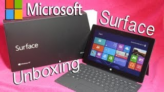 Microsoft Surface Unboxing & Hands-on / First Start Up! | New Surface Unboxing (Windows 8 RT Tablet)