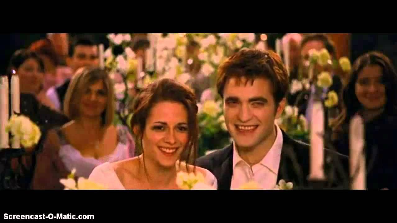 Twilight breaking dawn bella and edward wedding