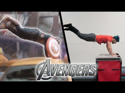 Stunts From The Avengers In Real Life (Captain America, Parkour, Tricking)