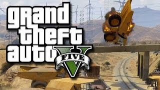 GTA 5 Online Funny Gameplay Moments! #12 (The Crew vs. The Train!!!)