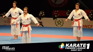 FRMK.TV : FEMALE Team KATA of Morocco Karate1 Premier League Rabat 2017