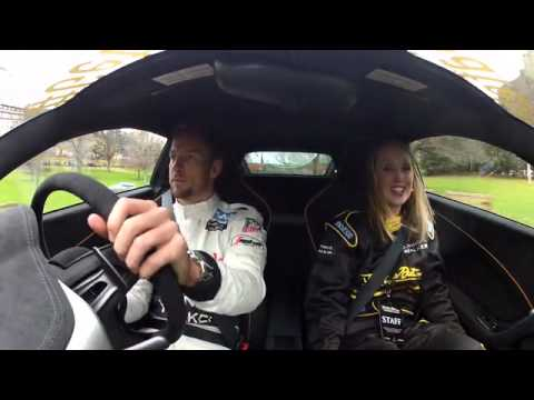 Jenson Button & Kevin Magnussen On Board Car Cam Driving In Edinburgh Promote Never Drink & Drive