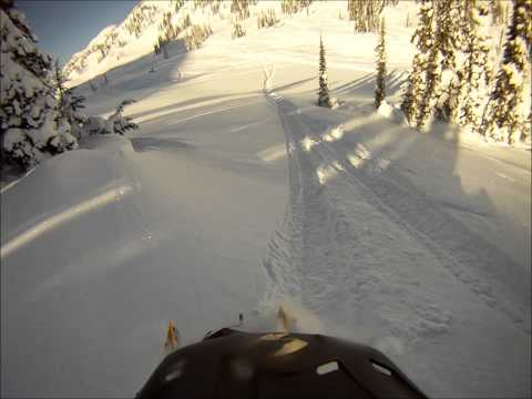Snowmobiling in Revelstoke, British Columbia 2012