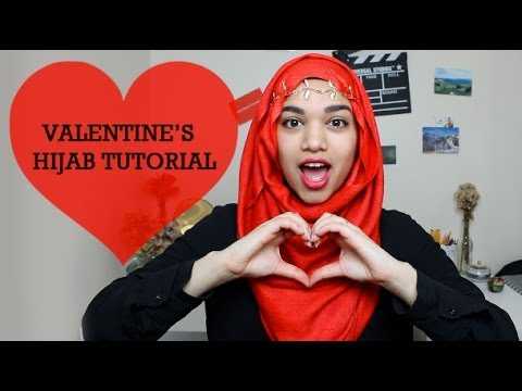 Valentine's Day Hijab Tutorial video
