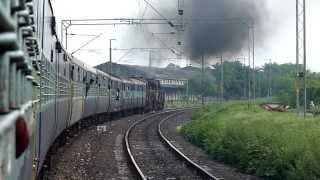 Khandwa Departure Extreme Chugging by Twin WDM-3D engines!!