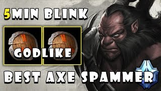 [Axe] 5Min Blink Dagger & Deleted Everyone with 2xStout Shield + GODLIKE FullGame Dota 2 7.22b