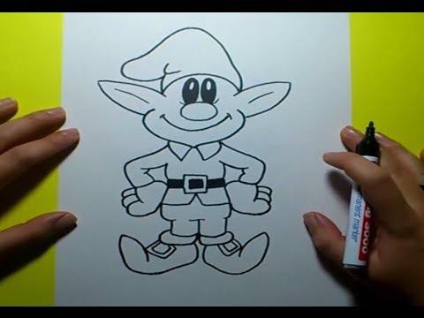 Como dibujar un duende paso a paso | How to draw an elf - YouTube