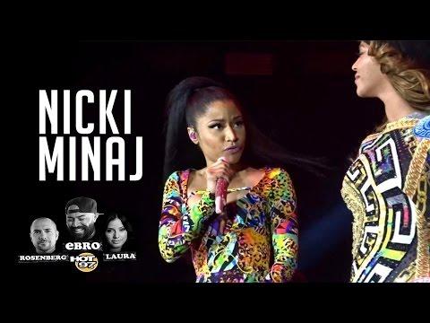 Nicki Minaj shares her experience Performing with Beyonce in Paris!