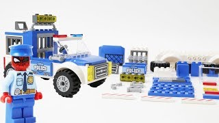 LEGO Police Car Toys Building Block for Children - Build & Play Hulk and Spiderman Assembly Video
