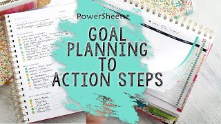 2020 PowerSheets: Goal Planning to Action Steps | How to break down those BIG Goals!!!