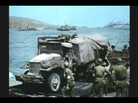WWII INVASION OF SOUTHERN  FRANCE  2 OF 3  RARE COLOR FILM Music Videos