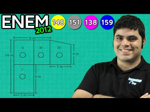 ENEM 2012 Matemática #24 - Área do Retângulo e do Trapézio e Aquecedores (com pegadinha)