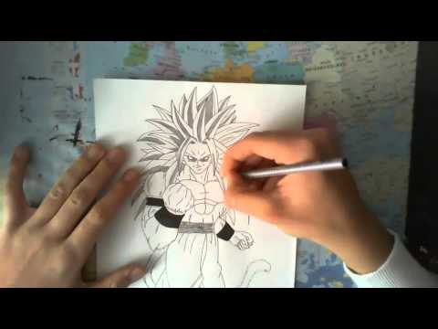 How To Draw Son Goku Ssj5 [dragonball Af]  By Mrnarutos10 video