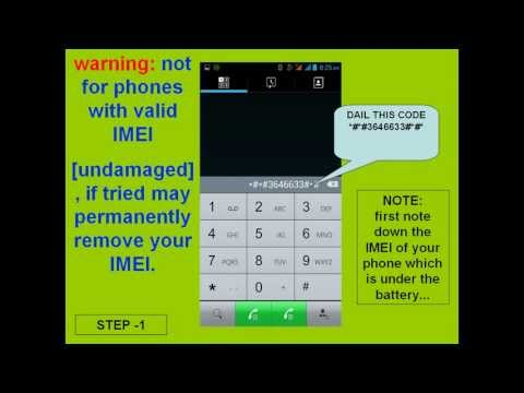 write imei on canvas a116 mtk engineering mode