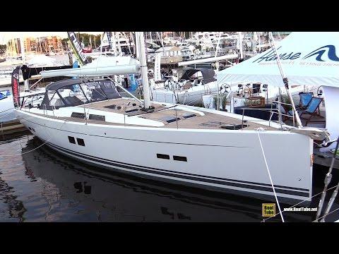 2017 Hanse 575 Sailing Yacht - Deck and Interior Walkaround - 2016 Annapolis Sailboat Show