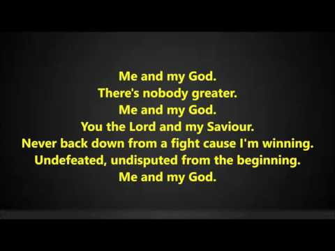 Beckah Shae - Me and my God lyrics