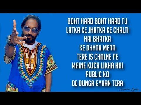 Emiway Machayenge Lyrics Tony James Youtube