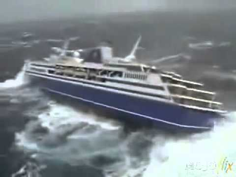 Cruiseliner Gets Fliped After Getting Smashed By Tsunami - Caught On Camera