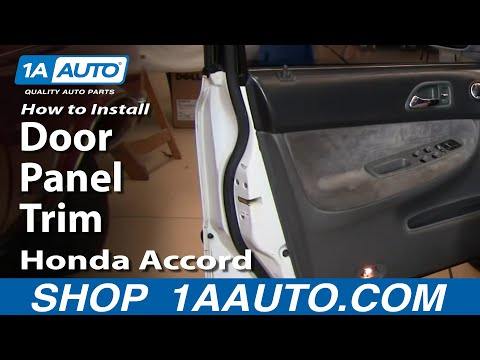 How To Install Replace Door Panel Trim Honda Accord 94-97 Front 1AAuto.com