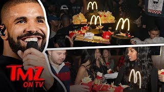 Drake Makes It Rain McDonald's In The Club! | TMZ TV