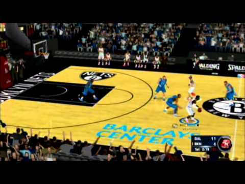NBA 2k13 Wii Brooklyn Nets vs Dallas Mavericks