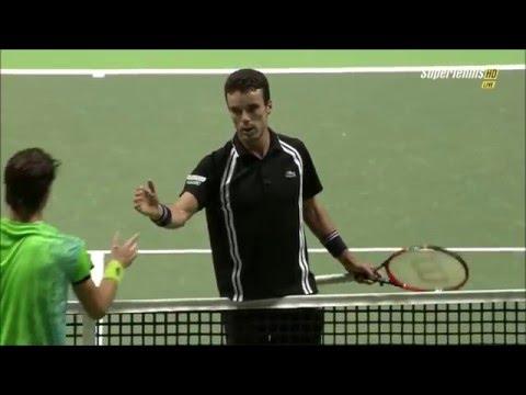Roberto Bautista Agut vs Joao Sousa  - Rotterdam 2016 - Highlights