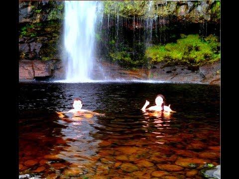 Sunset swimming under waterfalls - 27th July 2013