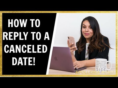 She Cancels Date | How To Reply To A Canceled Date Text!